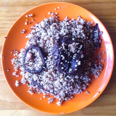 How to quinoa with shiitake mushrooms recipe