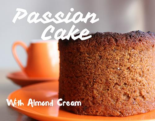 Passion Cake with Almond Cream